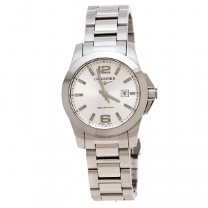 ساعة يد نسائية لونجين كونكويست L3.277.4 ستانلس ستيل فضية 29 مم