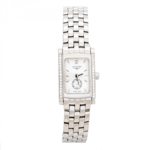 Longines White Stainless Steel Diamond Dolce Vita L5.155.0 Women's Wristwatch 19.80 mm