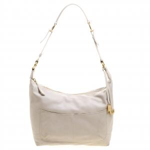 Loro Piana Beige Leather Shoulder Bag