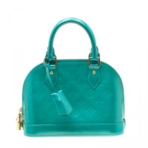 Louis Vuitton Bleu Lagon Monogram Vernis Alma BB Bag