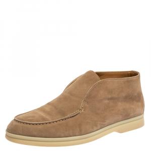 Loro Piana Beige Suede Open Walk Ankle Boots Size 35.5 - used