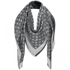 Louis Vuitton Black Monogram Wool and Silk Shawl