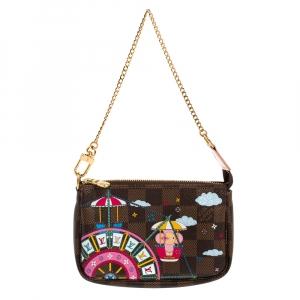Louis Vuitton Damier Ebene Canvas Mini Vivienne Pochette Accessoires