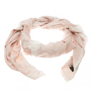 Louis Vuitton Pink Monogram Denim Shawl