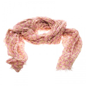 Louis Vuitton Pink and Yellow Leopard Print Cashmere and Silk Stephen Sprouse Graffiti Scarf