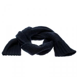 Louis Vuitton Navy Blue Damier Cashmere Muffler