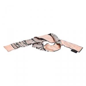 Louis Vuitton Pink Trunks Print Silk Bandeau Scarf