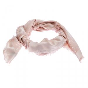 Louis Vuitton Pink Monogram Wool and Silk Shawl