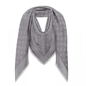 Louis Vuitton Charcoal Grey Monogram Shine Shawl