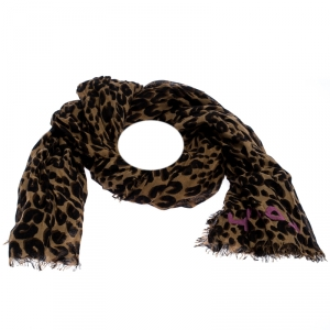 Louis Vuitton x Stephen Sprouse Leopard Print Cashmere Silk Scarf