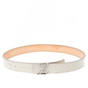 Louis Vuitton Ivorie Epi Leather Initials Belt Size 80CM