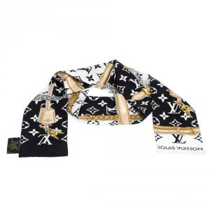 Louis Vuitton Silk Twill Monogram Confidential Bandeau Scarf