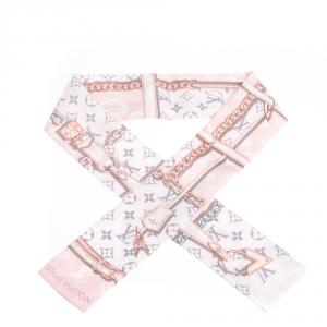 Louis Vuitton Light Pink Monogram Confidential Silk Bandeau