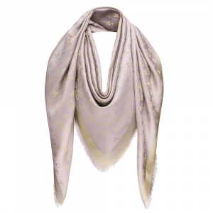 Louis Vuitton Greige Monogram Shine Shawl