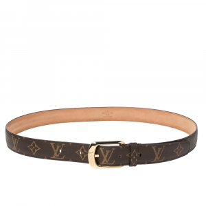 Louis Vuitton Monogram Canvas Ellipse Belt 95CM