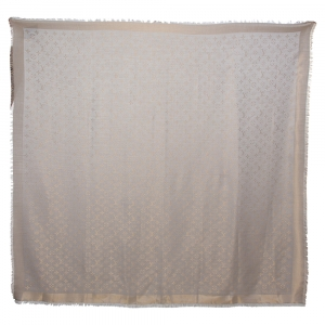 Louis Vuitton Gold and Grey Monogram Shine Shawl