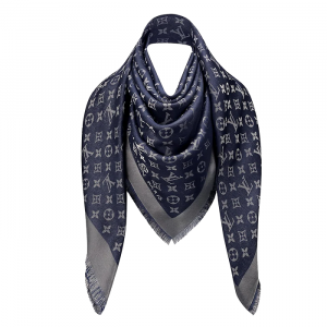 Louis Vuitton Blue Monogram Shine Shawl