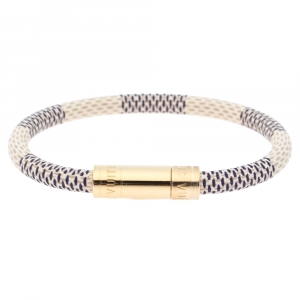 Louis Vuitton Damier Azur Gold Tone Keep It Bracelet
