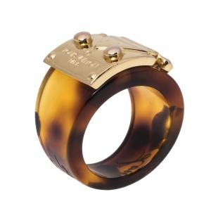 خاتم لوي فيتون لوك مي حلقة ريزن و معدن ذهبي اللون مقاس 54.5