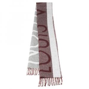Louis Vuitton Bicolor Jacquard Logo Cashmere and Wool Stole