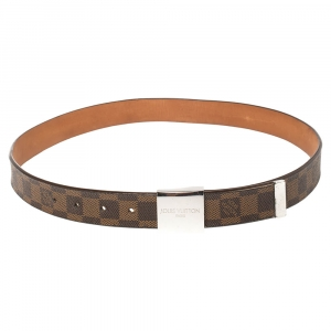 Louis Vuitton Damier Ebene Canvas Buckle Belt 90CM
