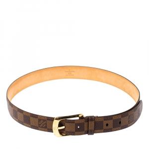 Louis Vuitton Damier Ebene Ellipse Belt 85 CM
