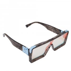 Louis Vuitton Marbled Grey/ Clear Multireflection Z1320E Dayton Sunglasses
