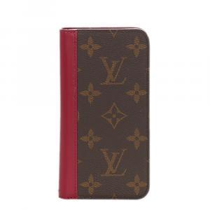 Louis Vuitton Brown Monogram Canvas Folio iPhone Cover