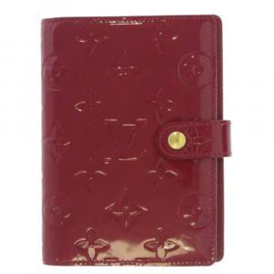 Louis  Vuitton Red Monogram Vernis Agenda PM Cover