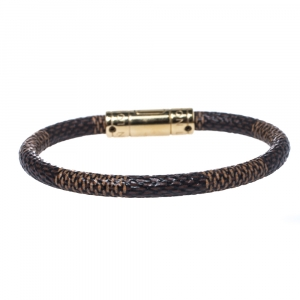 Louis Vuitton Brown Damier Ebene Canvas Keep It Bracelet