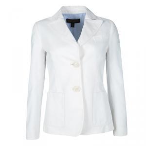 Louis Vuitton White Textured Blazer S