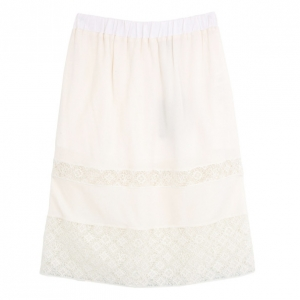 Louis Vuitton Monogram Lace Skirt S