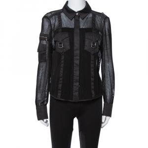 Louis Vuitton Black Mesh Button Front Shirt L