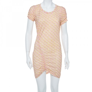 Louis Vuitton Pink Logo Monogram Cotton Ruched Tunic XL used