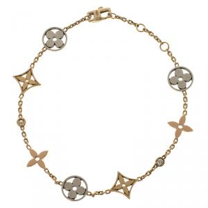 Louis Vuitton Idylle Blossom Three Tone 18k Gold Bracelet