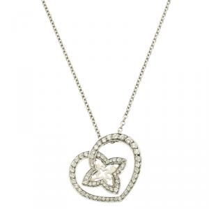 Louis Vuitton Coeur Diamond & 18K White Gold Chain Necklace