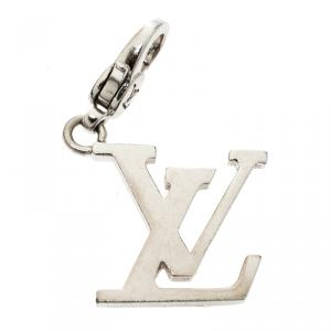 Louis Vuitton LV Initial 18k White Gold Charm