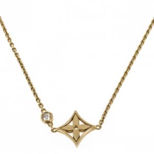 Louis Vuitton Monogram Idylle Pendant Necklace 18K Yellow Gold and Diamond