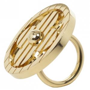 Louis Vuitton Fleur Yellow Gold Ring Size 53