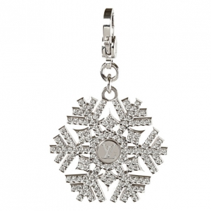 Louis Vuitton 18 K White Gold Diamond Charms de Monogram Snowflake Pendant