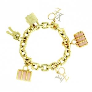 Louis Vuitton Padlock Charm 18 K Yellow Gold Bracelet
