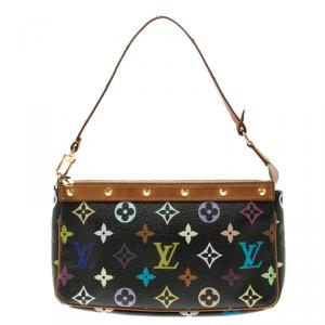 Louis Vuitton Black Multicolor Canvas Pochette Accessories