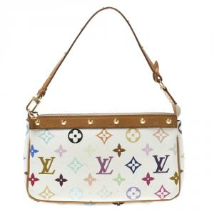 Louis Vuitton White Multicolor Monogram Canvas Pochette Accessories