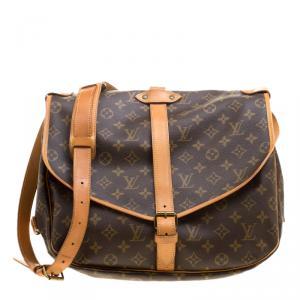 Louis Vuitton Monogram Canvas Saumur Messenger 35 Bag