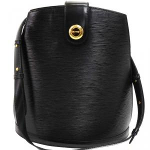 Louis Vuitton Black Epi Leather Cluny Bucket Bag