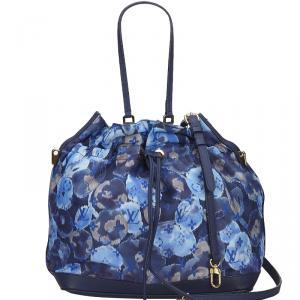 Louis Vuitton Grand Bleu Monogram Ikat Floral Nylon Limited Edition Noefull Bag