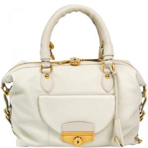 Louis Vuitton Ivory Leather Veau Sac Louis Special Order Bag