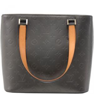 Louis Vuitton Black Monogram Mat Stockton Bag