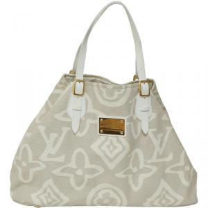 Louis Vuitton Beige Canvas Limited Edition Tahitienne Cabas GM Bag