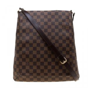 Louis Vuitton Damier Ebene Canvas Musette Messenger Bag